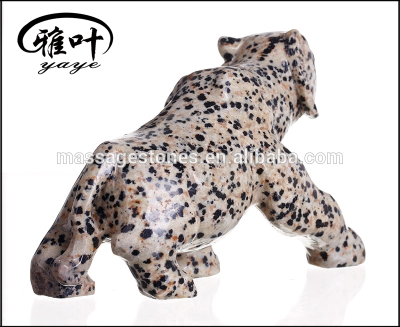 Natural Dalmation Jasper Hand Carved Leopard Statues for Sale