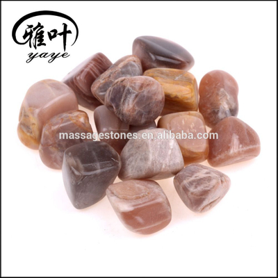 Wholesale Natural semi precious Stone Highly Polished 20-25mm Moonstone Tumbled Stone