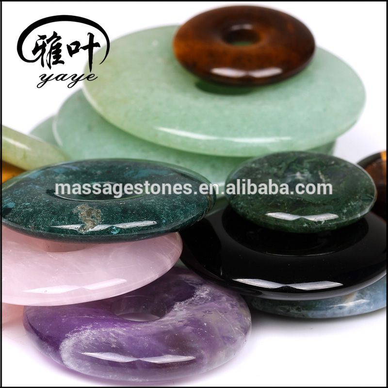 Customized Size Natural Gemstone Dunut Pendant For Sale