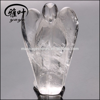 Crystal Quartz Pocket Angel Carving for Christmas Gifts