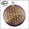 Engraved Crystal Amethyst Flower of Life pendant Charms Gift