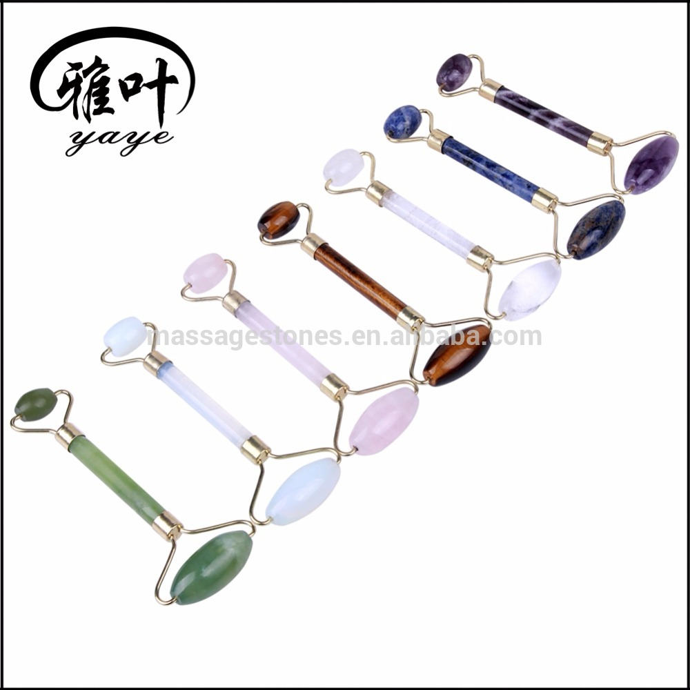 Wholesale Natural Gemstone Facial Roller Body Massage Roller Face Massage Roller