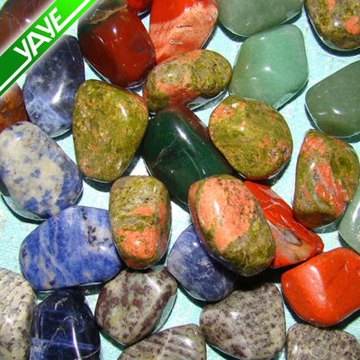 Highly polished reiki drilled tumbled stones