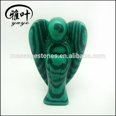 Whole Malachite Gemstone Angel Satues/Carvings Malachite