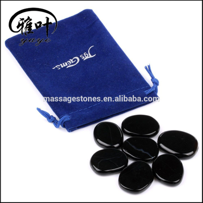 Wholesale Natural Black Obsidian Pocket Palm Stones