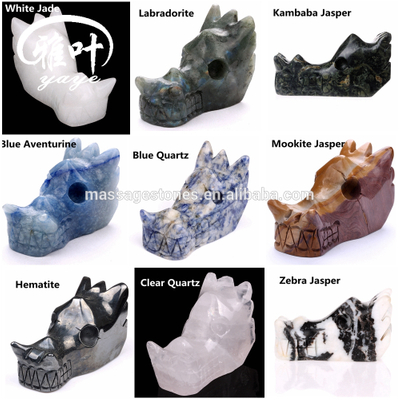 Natural Gemstones Dragon Skulls Hand Carved Dragon Skulls Wholesale