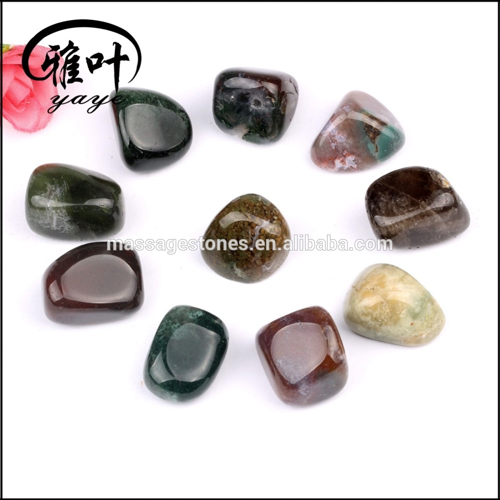 Bulk wholesale mixed carneline/quartz crystal/ semi-precious tumbled stones