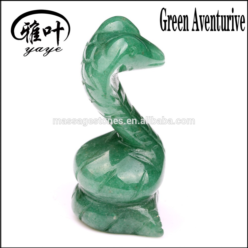 Wholesale Carved Decoration Gemstone Snake figurine