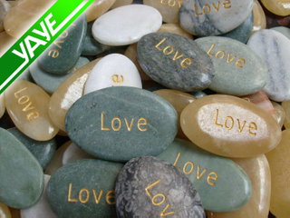 Engraved Pebble Product: Marble Etched With Inspirational Word, Logo, Letter, Symbols and Phrase