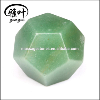 SACRED GEOMETRY SET:Green aventurine Platonic Solids