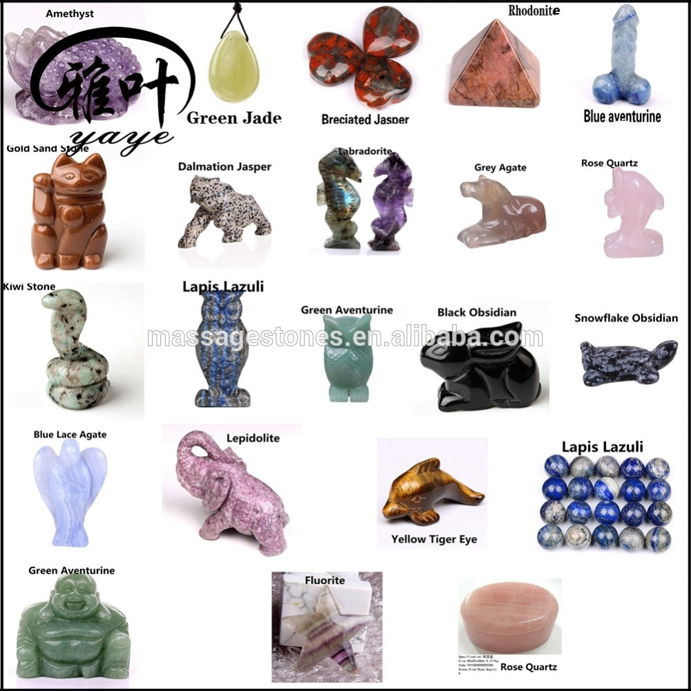 Custom Production Semi-precious Stones Gems Stones Animal Carvings