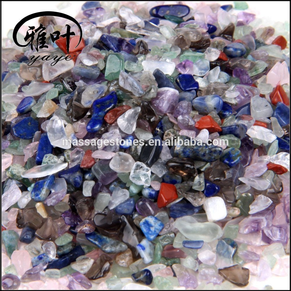 Wholesale gemstone tumbled chip stones semi-precious stone chips