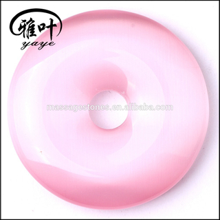 Wholesale Inflatable Donuts Pendants Pink Cat Eye