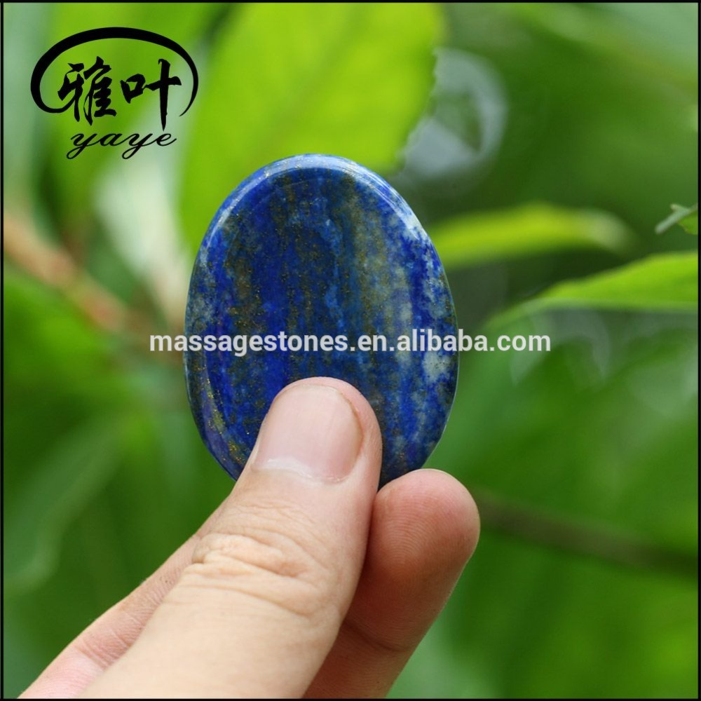 Wholesale Natural Lapis Lazuli Worry Stone For Thumb Massage