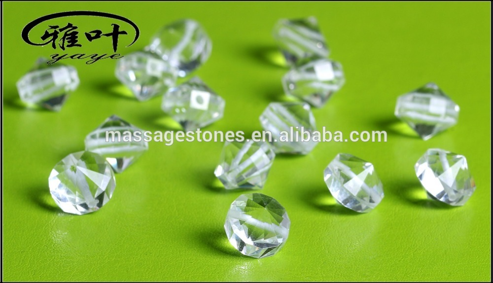 Natural Crystal Drilled Beads Clear Quartz Faceted Beads for Jewelry Making