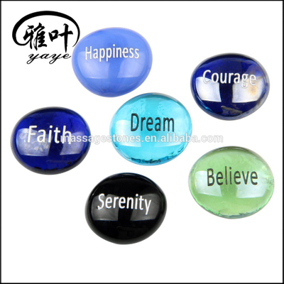 Wholesale Engraved Inspirational Glass Stone