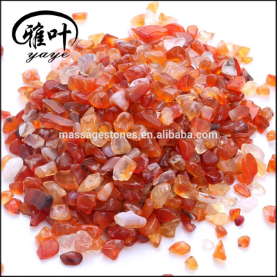 Wholesale 5-15mm natural semi precious Carnelian chip of stone small Tumbled stone