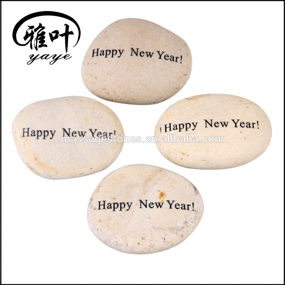Wholesale Engraved River Rock for Christmas Decoration and Gift