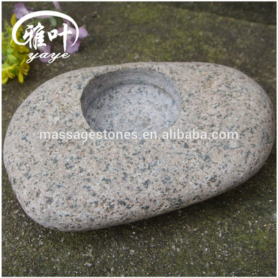 8-10cm Natural Garden Stones Candle Holders