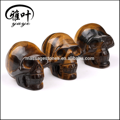 Wholesale Factory Prices Yellow Tiger Eye Stones Skulls for Halloween