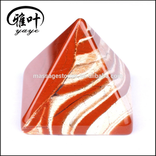 Wholesale Natural Red Jasper Pyramid Gemstone Vastu Pyramid for gift