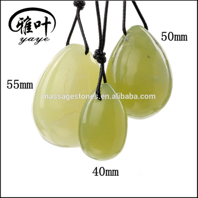 Bulk Yoni Egg Energy Healing Drilled Green Jade Energy Egg