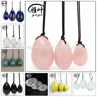 Wholesale natural agate/quartz crystal/amethyst Yoni Egg for vaginal exercise