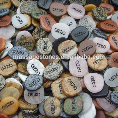 Engraved Mixed Marble letter rocks