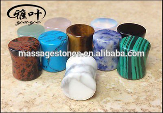 Natural Gemstone Body Jewellery Organic Stone Plugs