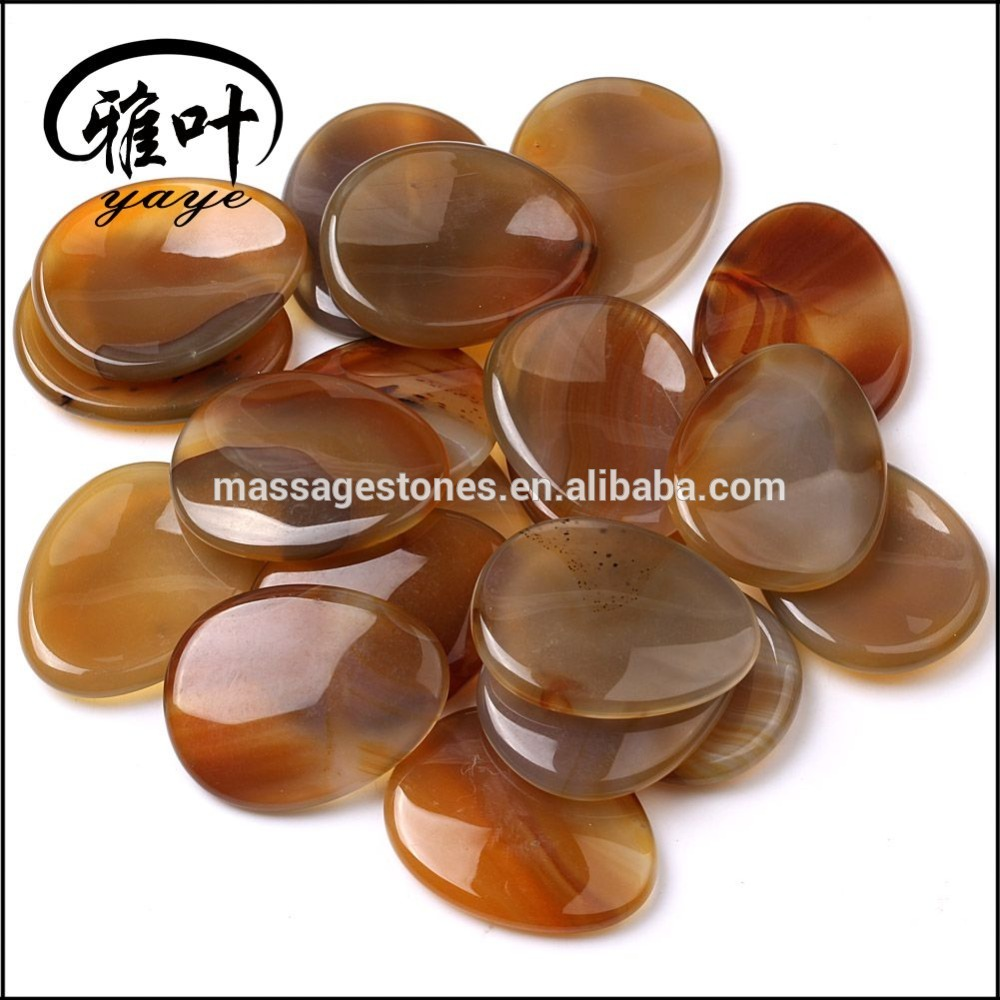 Natural Carnelian Worry Stone For Sale