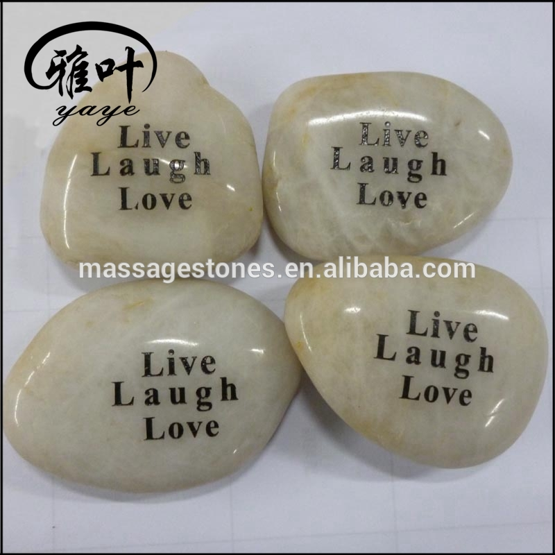 Natural Polished River Stones White