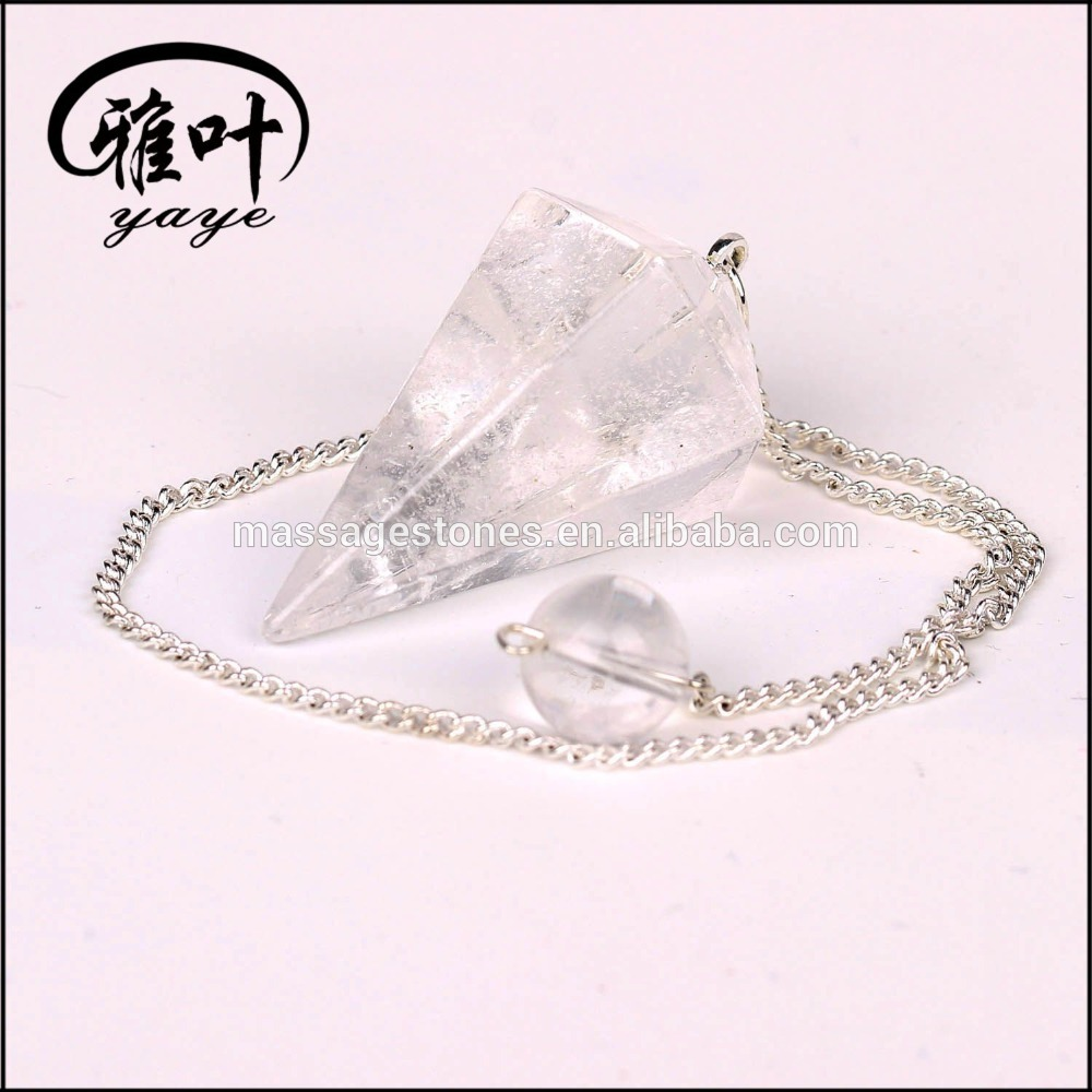 Wholesale Natural Cystal Clear Quartz Dowsing Pendulum