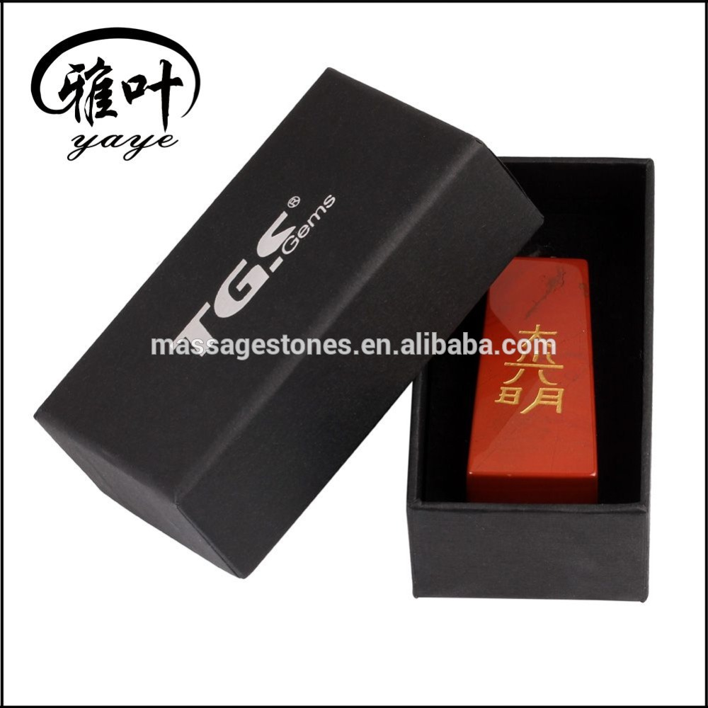 Wholesale Fashionable Trapezoid Gemstone Crystal Engraved Stones with Boxes as Business Gift