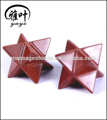 Gemstone Star of David Red Jasper Healing Merkaba Stars