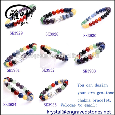8mm Loose Gemstones Beads Chakra Bracelets