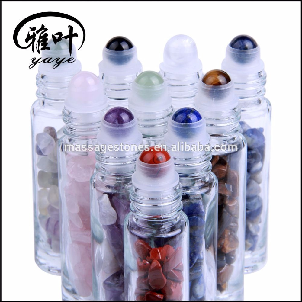 Wholesale Natural Gemstone Massage Roller Ball Roller Bottle
