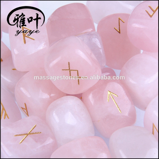 Wholesale Rose Quartz rock rune stone set