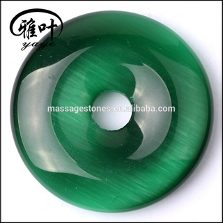 Wholesale Synthetic Cat's Eye Donuts Pendants