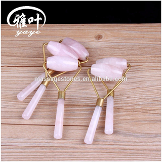 High Quality Natural Rose Quartz Massage Tool Facial Roller Jade Roller