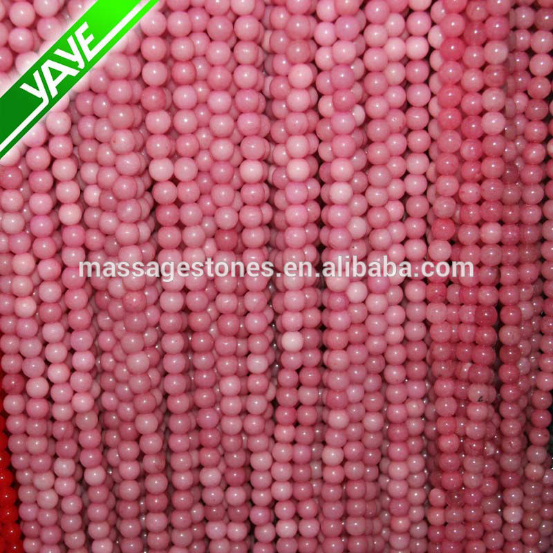 Bulk wholesale natural stone dyed red jade gemstone beads, crystal beads