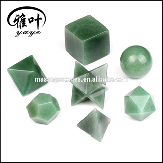 Green Aventurine Platonic Solids Healing Sacred Geometry Set