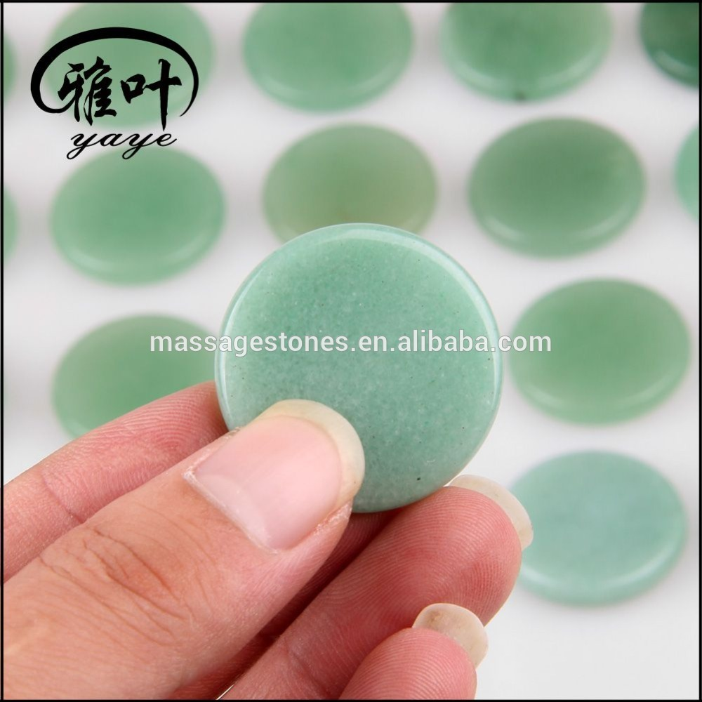 Wholesale Green Aventurine Jade Round Palm Stone
