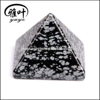 Decoration snowflake obsidian gemstone pyramid for sale