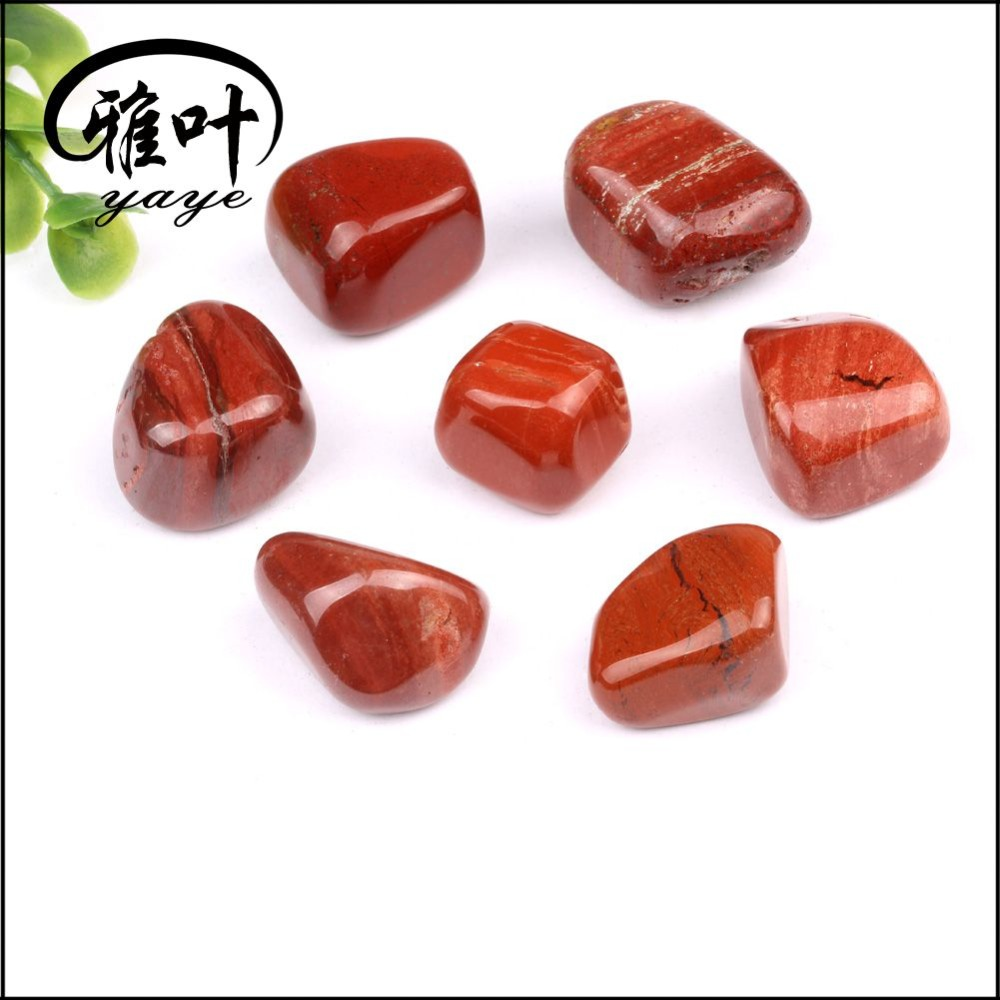 Natural semi precious red jasper 20-25mm tumbled stone