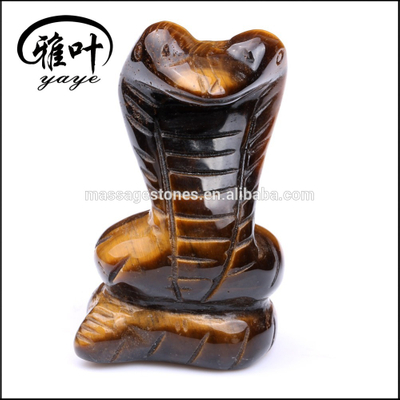 Wholesale Yellow Tiger Eye Gemstone Snake Sculpture For Decoration