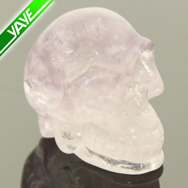 2.0'' Light Amethyst Carved Crystal Skull,Realistic,Crystals Carving Healing