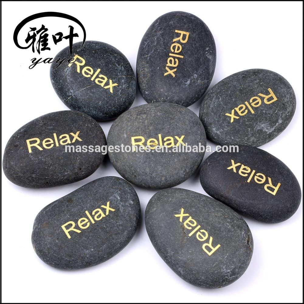 Wholesale Nature Black Stone Massage Stone Set