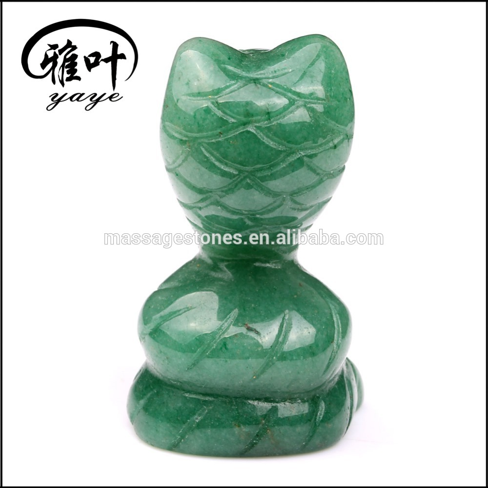 Wholesale Green Aventurine Gemstones carved Snake Sculpture