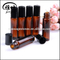 Brown Color Essential Oil Glass Perfume Bottle Gemstone massage roller ball