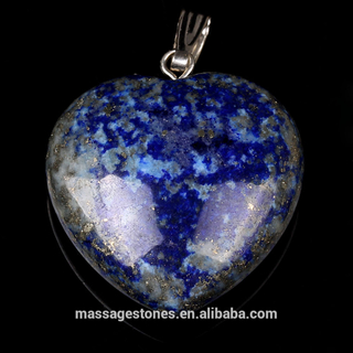 Crystal Collection Lapis Lazuli Heart Shape Pendant Necklace